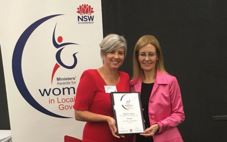 Board Member, Rebecca Ryan, wins Ministers' Awards for Women in Local Government